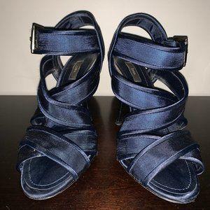 Zara Navy Blue Strappy Heel